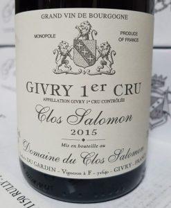 Clos Salomon Givrey 1er cru 2015