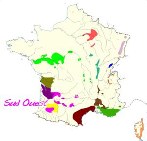 carte des vins  sud ouest