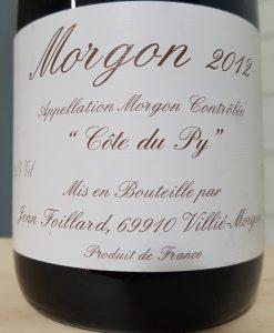 Foillard Morgon Côte du Py 2012