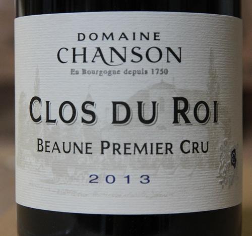 Domaine Chanson Beaune 1er cru Clos du Roi 2013