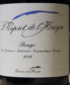 Domaine de Horizon Esprit rouge 2012
